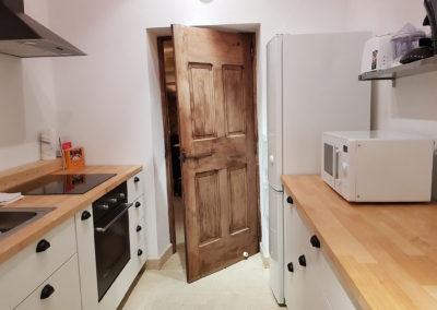La cuisine d'intérieur.