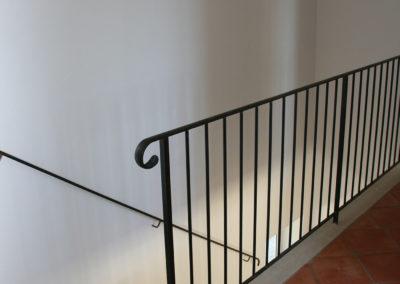 L'escalier vue de l'étage.