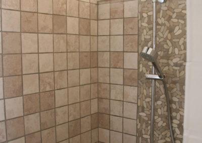 La douche à l'italienne.