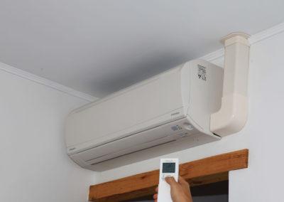 Climatisation qui se trouvant dans les chambres.
